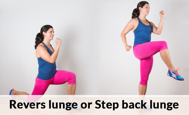 Revers lunge or Step back lunge