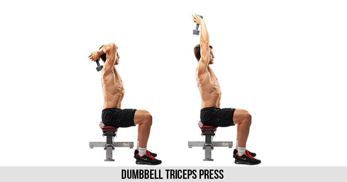 Dumbbell Triceps Press Workout