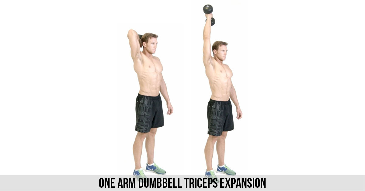 One Arm Dumbbell Triceps Expansion