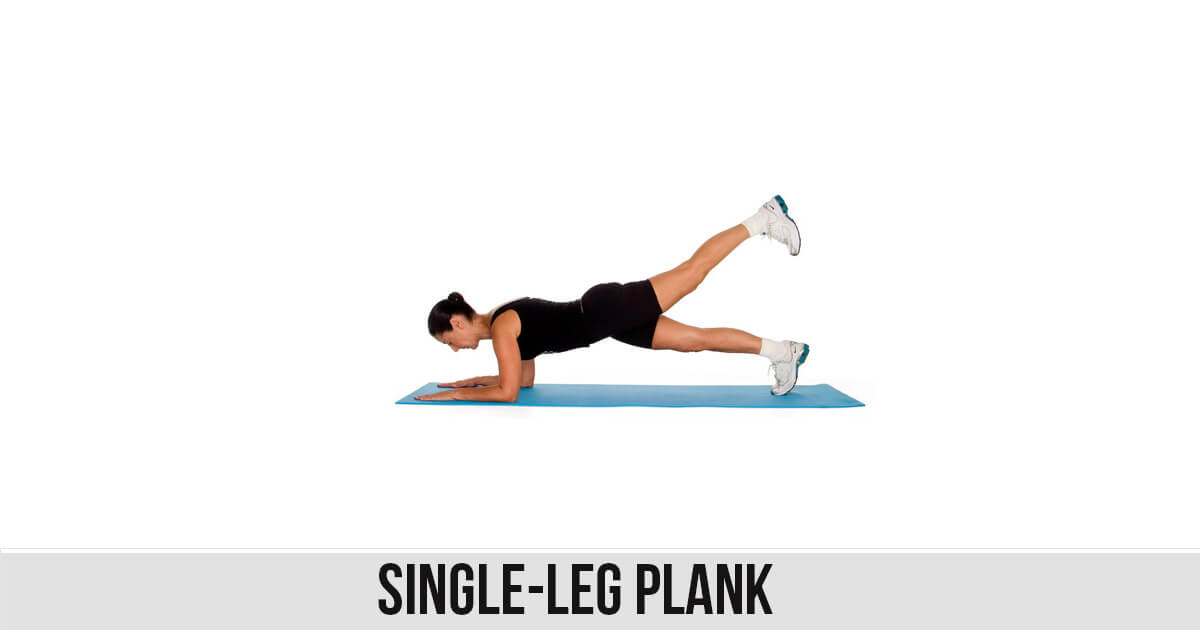 Single Leg Plank exercise