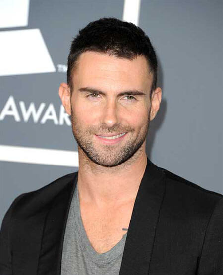 Adam Levine Crew Cut Hairstyle