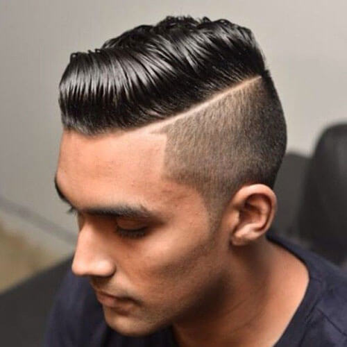 Medium Length Comb Over with Low Taper Fade