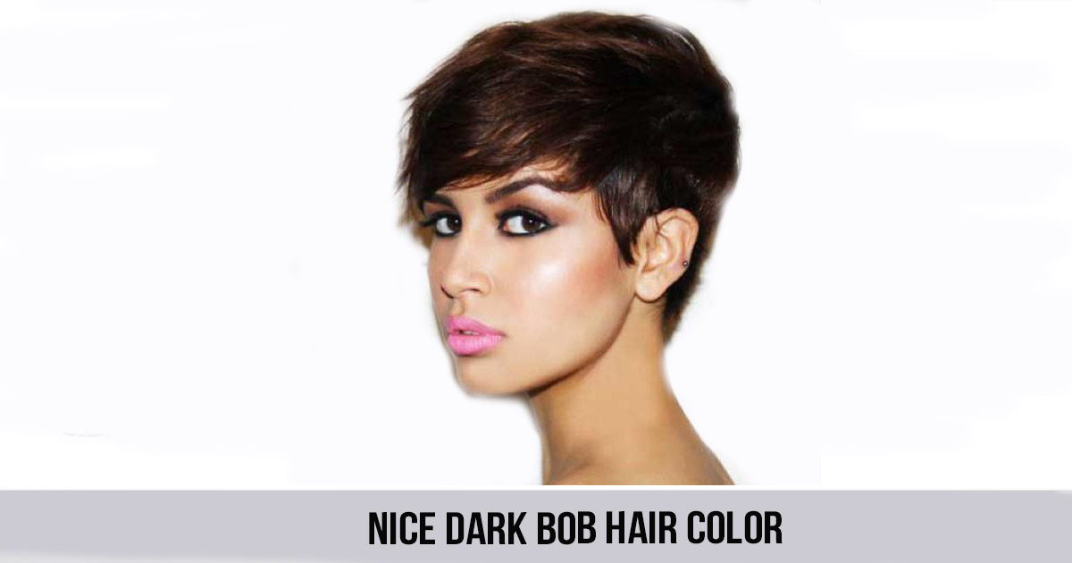 Nice Dark Bob Hair Color