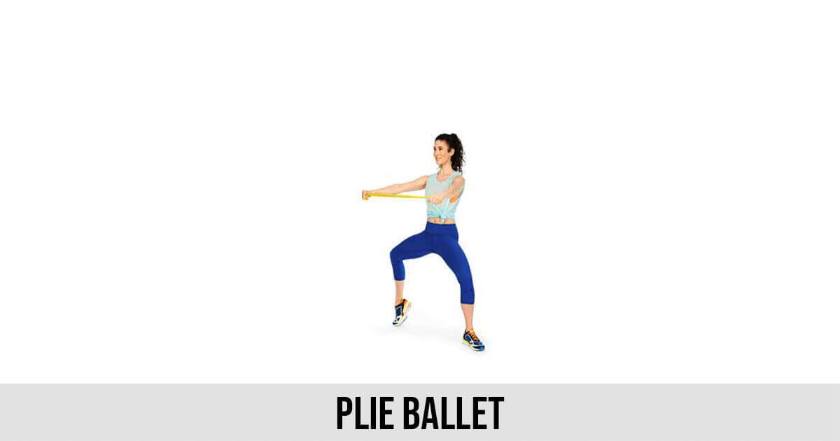 Plie ballet exercise