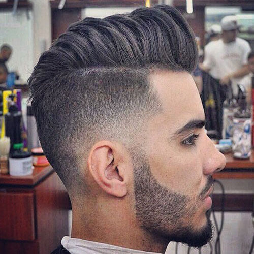 Pompadour with High Taper Fade