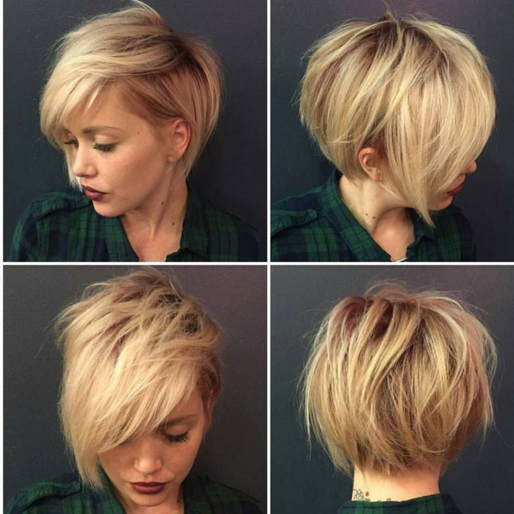 Rounded Face Framing Bob