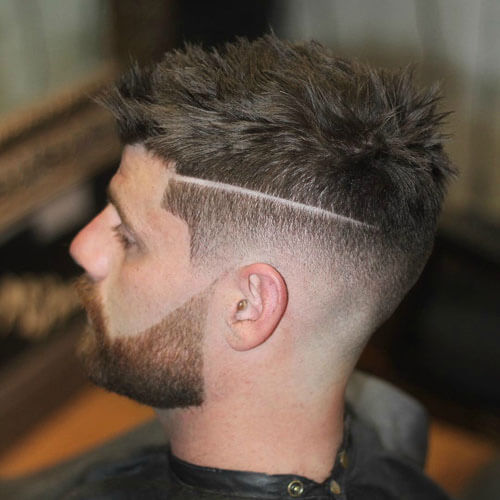 Short Sides with Messy Wavy Crew Cut