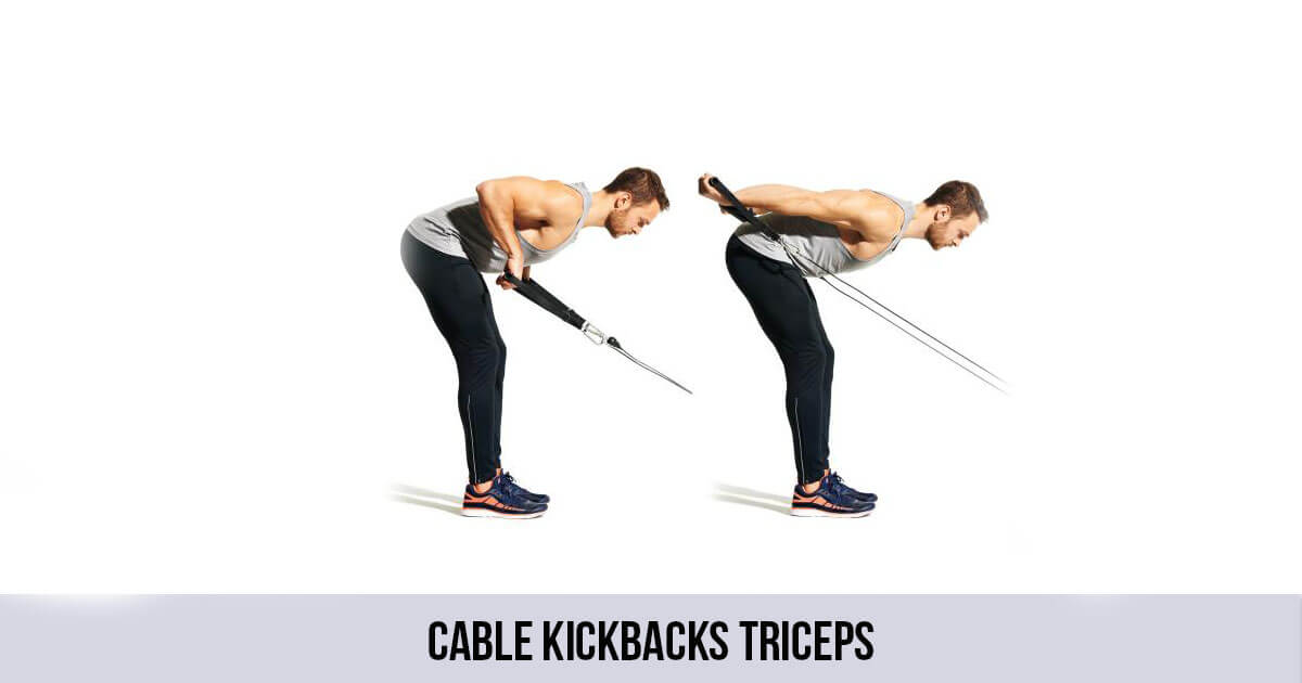 Cable kickbacks Triceps