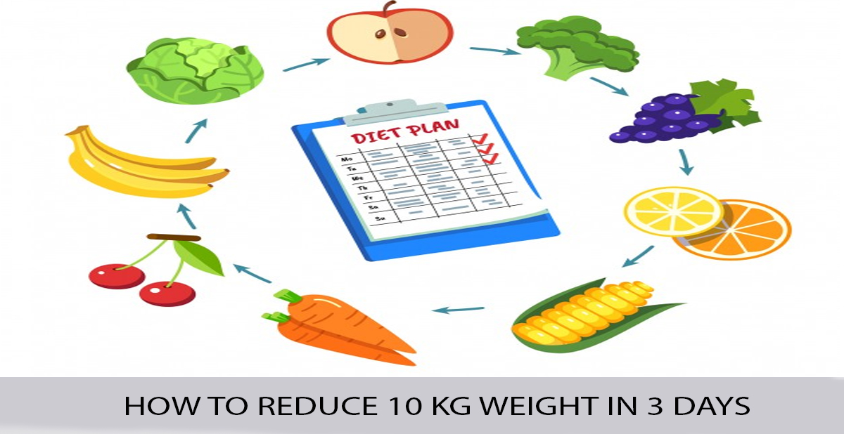 HOW TO REDUCE 10 KG WEIGHT IN 3 DAYS