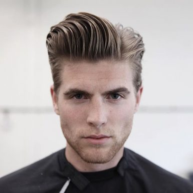 pompadour with long hair