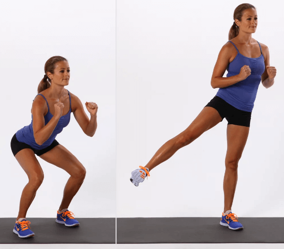 Side-To-Side Squat and Swing