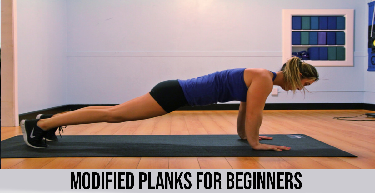 modified planks for beginners