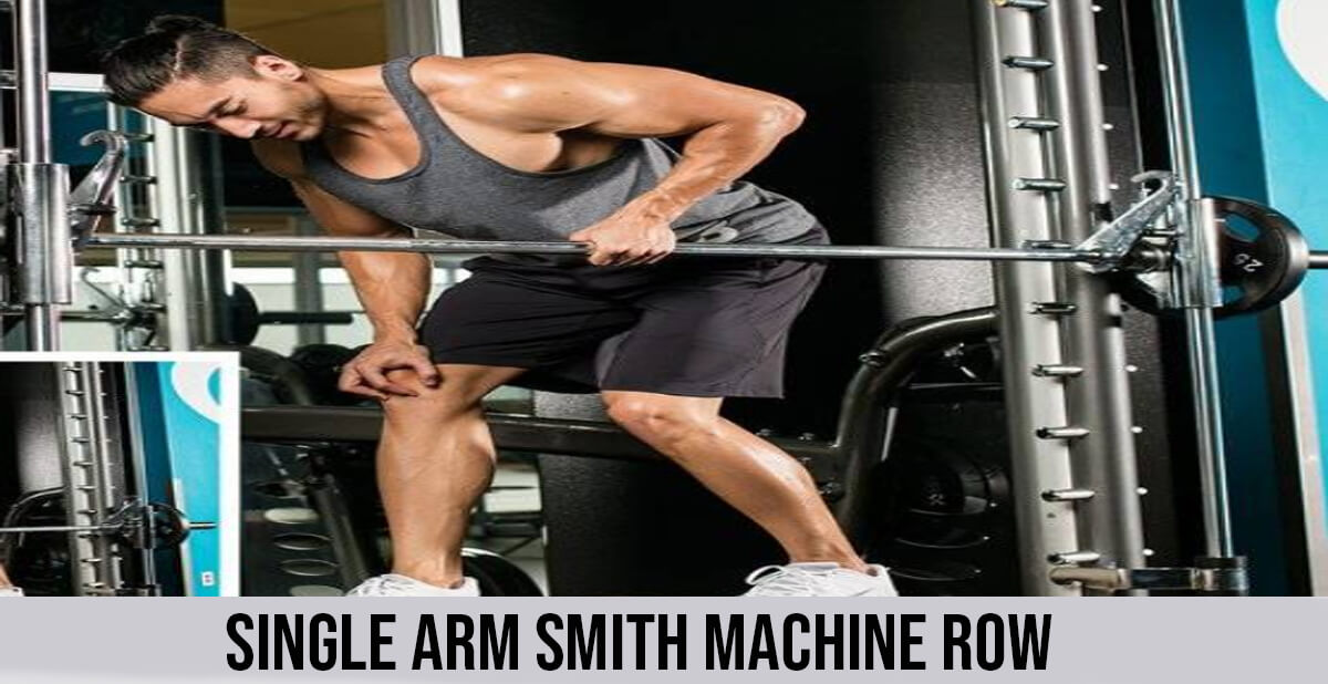 single arm smith machine row