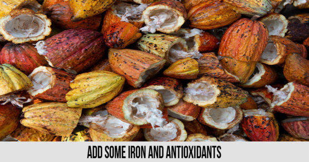Add some iron and antioxidants